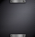 metal holed background template
