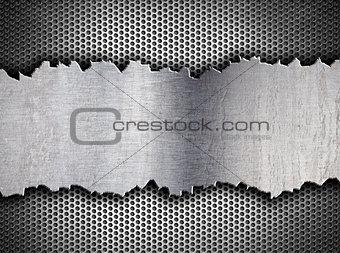 grunge crack metal background tempalte