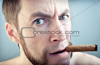 man with a cigar,