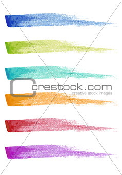 paint brush strokes, vector set