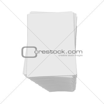 A stack of white paper