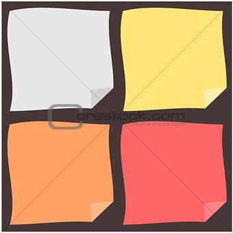 Color paper illustration