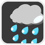 Rain icon weather illustration
