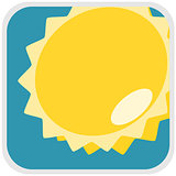Sun weather illustration