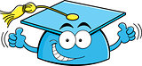 Cartoon Graduation Cap Giving Thumbs Up