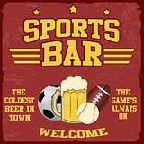 Sport bar poster