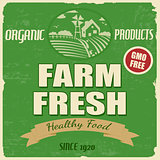 Farm fresh poster