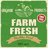Farm fresh poster