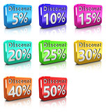 discount icons set