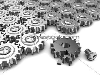 broken mechanism