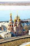 April view Stroganov Church Nizhny Novgorod Russia