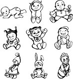 Sketches of babies