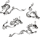 Stylistic dragon tattoos