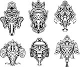 symmetric Ganesha masks