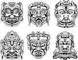 Hindu deity masks