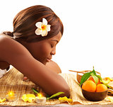 African woman at spa