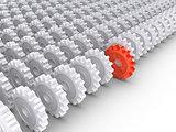Cogwheels leadership concept