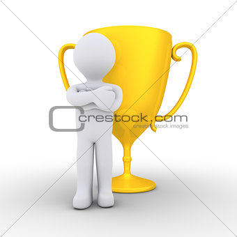 Person won the golden cup