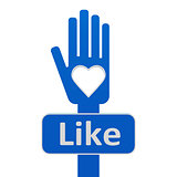 Hand with like