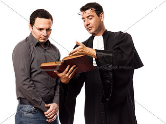 lawyer man and his client