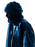 man Tuareg Portrait silhouette