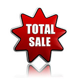total sale in red star banner