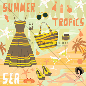 Fashion set summer clothes