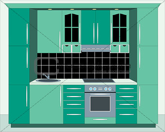 Kitchen furniture.
