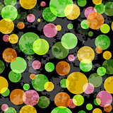Seamless grunge pattern with colorful balls