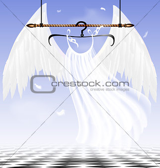 white wings of an angel