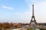 eiffel tower from Trocadero in Paris