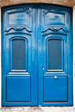 French blue wooden door