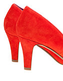 heelpieces of red high heel pump shoes