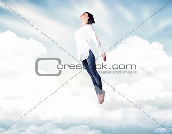 Girl in a clouds