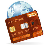 World Credit Card Concept