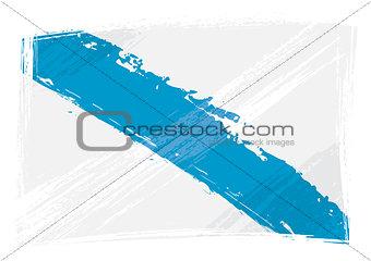 Grunge Galicia flag