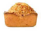 Bread with seeds isolated