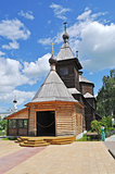 Wooden church of Sergey Radonezhsky in Murom, Russia