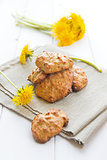 Cookies with dandelion&#39;s flowers