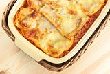 lasagne from above