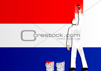 Painting Netherlands Flag