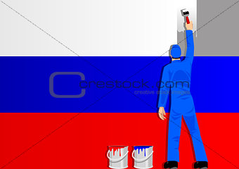 Painting Russian Flag