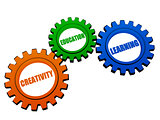 creativity, education, learning  in color gears