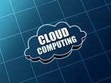 cloud computing blue figure