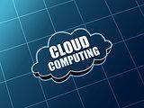 cloud computing blue figure