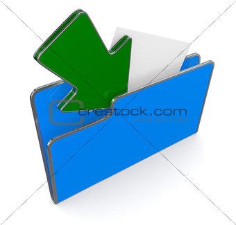 folder icon, data transfer