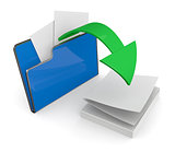 folder icon, data transfer
