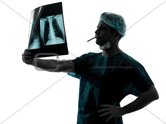 doctor surgeon smoking  man silhouette