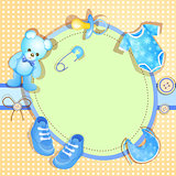 Blue baby shower card