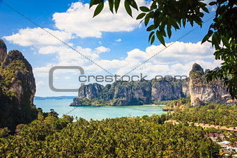 Railay beach from viewpoint